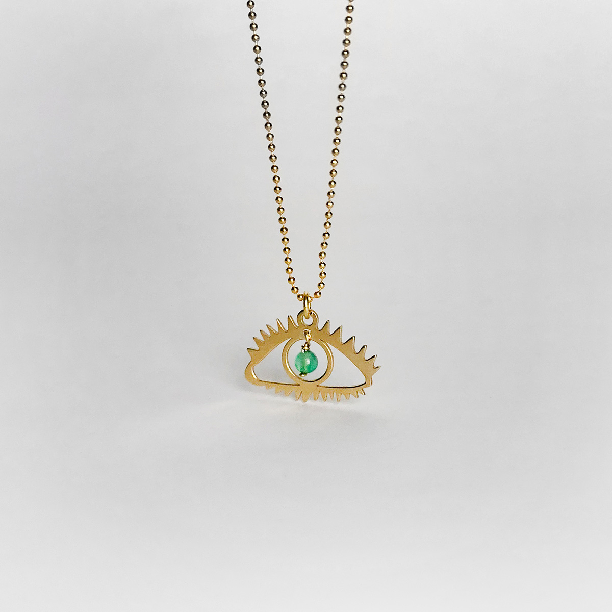 flat-eye-silver-necklace-green-agate